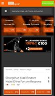 Mobile 888 Sport Webseite