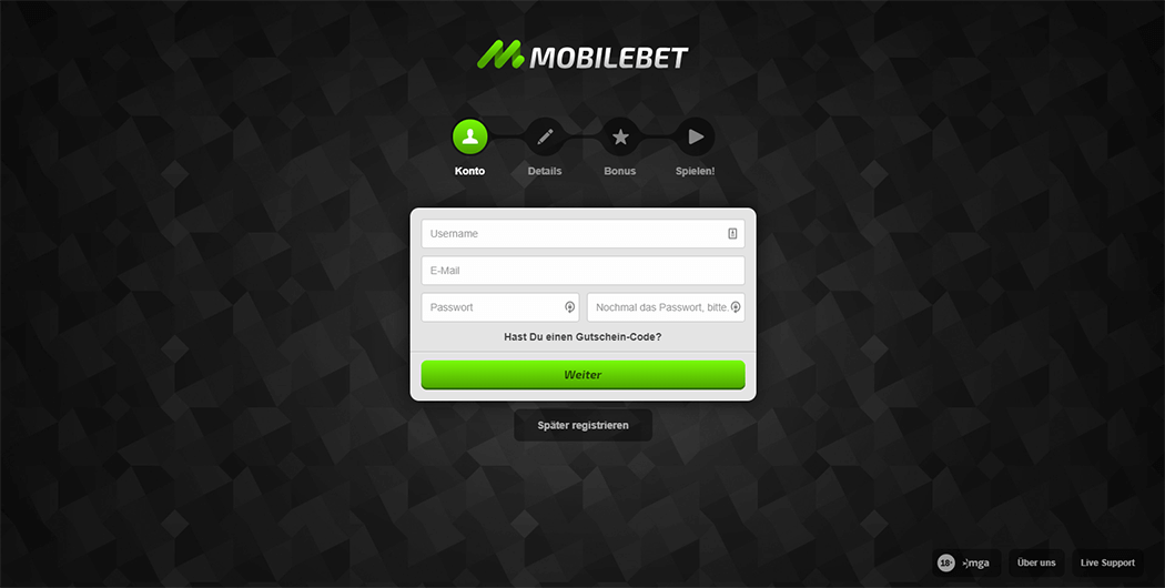Mobilebet Registrierungsformular Screenshot_3