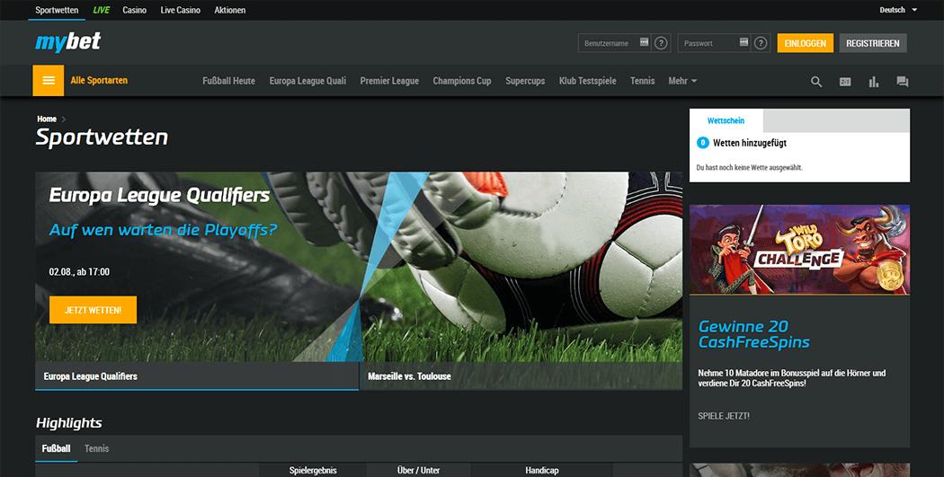 Die Mybet Webseite Screenshot_2