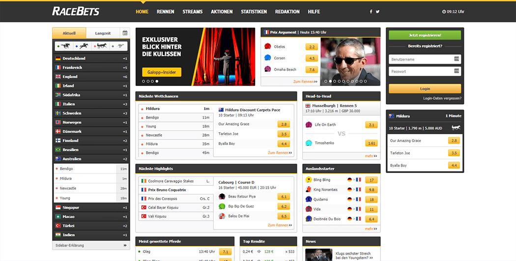 Die Racebets Homepage_3