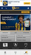 Mobile Bet3000 Webseite