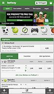 Mobile Betway Webseite