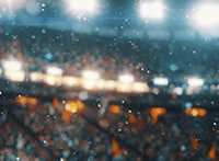 Jubelnde Fans in einem Stadion