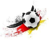 Fußball auf Schwarz Rot Gold Hintergrund_2