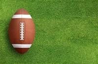 Ein Football aus der Vogelperspektive