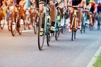 Mehrere Radrennfahrer