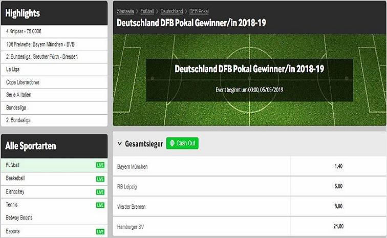 DFB Pokal Ausloung